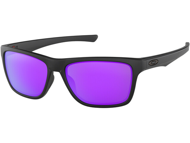 Oakley Holston Sunglasses Matte Black/Violet Iridium